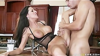 BRUNETTE WIFE WITH NATURAL TITS CHEATS WITH PLUMBER - Brazzers