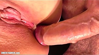 Sticky Tits Anal: Naturally Curvy MILF Britney'_s Ass to Mouth Cum Facial. Big Breasts &amp_ High Heels --&gt_ Hot Slut Wife goes ATM!