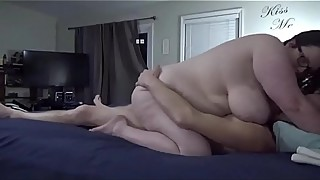 Bbw huge tit wife fucked and creampied  1