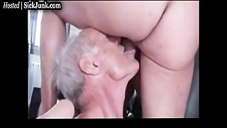 Old Man Eats Cum From Wifes Pussy