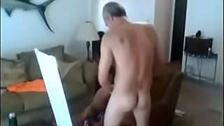 Hidden Cam of Asian Whore Fucking old Man when his Wife is Working
