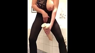 wife horny and need orgasm in bathroom