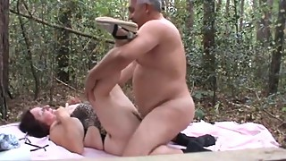 daddy pounds his wife outdoors