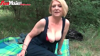 FunMovies Mature housewife fucked outdoor