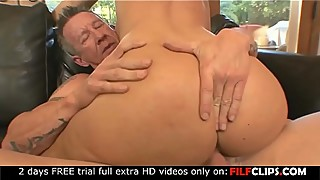 Horny milf Devon Lee take big older cock in her pierced pussy