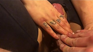 Smacking my wife'_s pussy with my cock