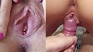 Fucked and creampie in pussy to my wife. Full version