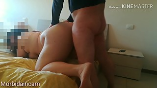 Amateur Hairy BBW Housewife gets fucked hard deep like a bitch REAL ORGASM