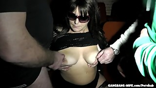 Adult Theater Gangbangs with Slutwife Marion