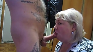 excellent Blowjob from his wife