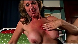 Shapely old spunker in sexy stockings loves to fuck &_ facial cumshots