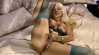 Blonde Trashy Wife Alone
