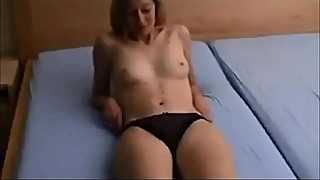 Shy wife gets fucked on homemade