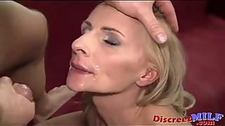 Slim mature wife takes  big cock deep anal