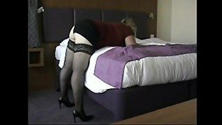 Amateur Wife Slut in black stockings Have Doggy