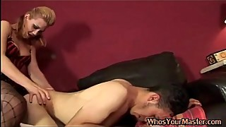 Kinky wife strapon fucks Husband