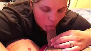 Tranny Gets Her Dick Sucked & Mouth Creampie Horny Wife For Her To Swallow