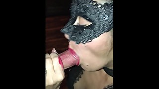 Whorewifelatina swallowing a strangers load while husband watches