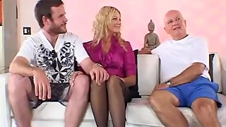 Horny Blonde Housewife Swinger
