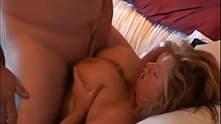 Real busty milf having her boobs fucked and creamed over