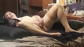Wife enjoying her dildo
