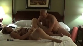 fat daddy randy sex wife in bedroom