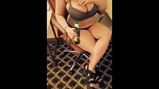 Exhibitionist IndianWife teasing Hotel Worker!!
